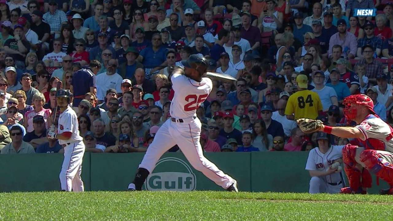 Bradley Jr. hits two-run triple