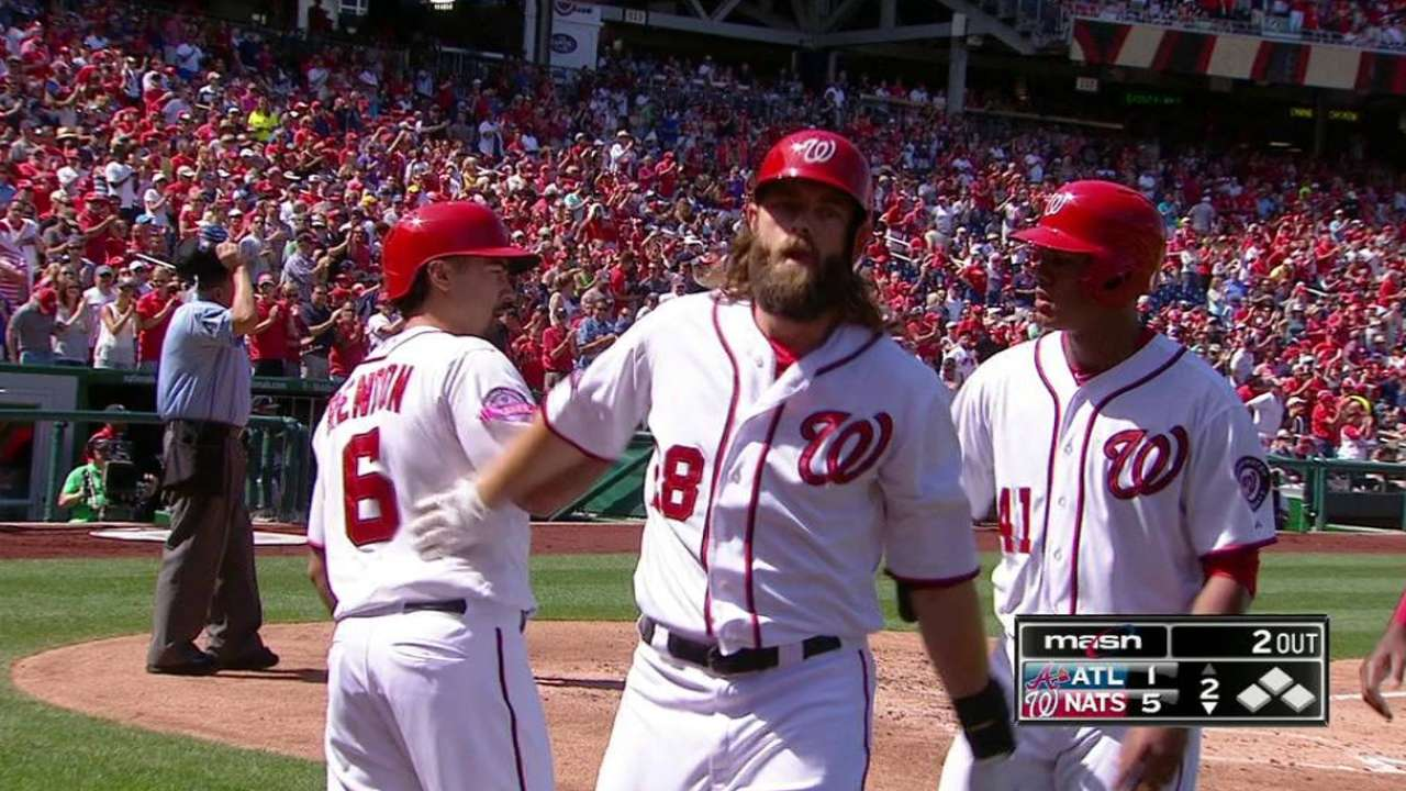 Nats push to 4 back in NL East with sweep