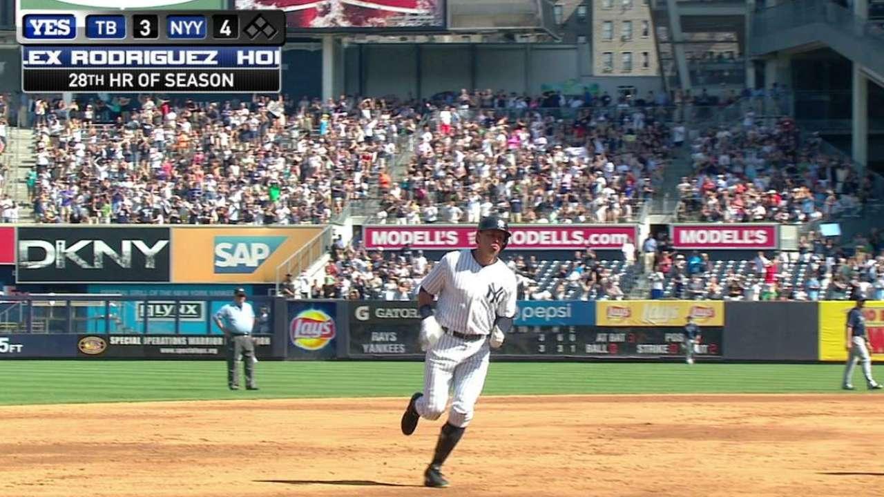Par de jonrones impulsan a Yankees sobre Rays