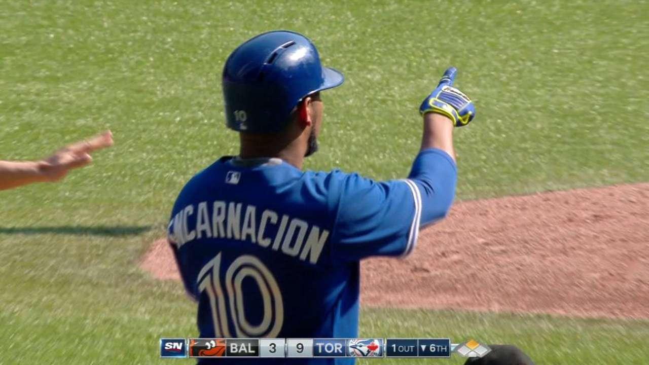 Encarnacion's RBI double