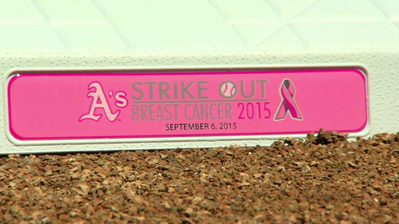 A's host 17th annual Breast Cancer Awareness Day