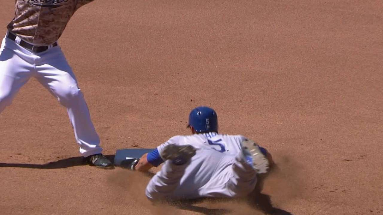 Seager's first steal