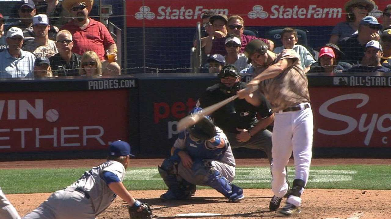 Myers' first hit in return