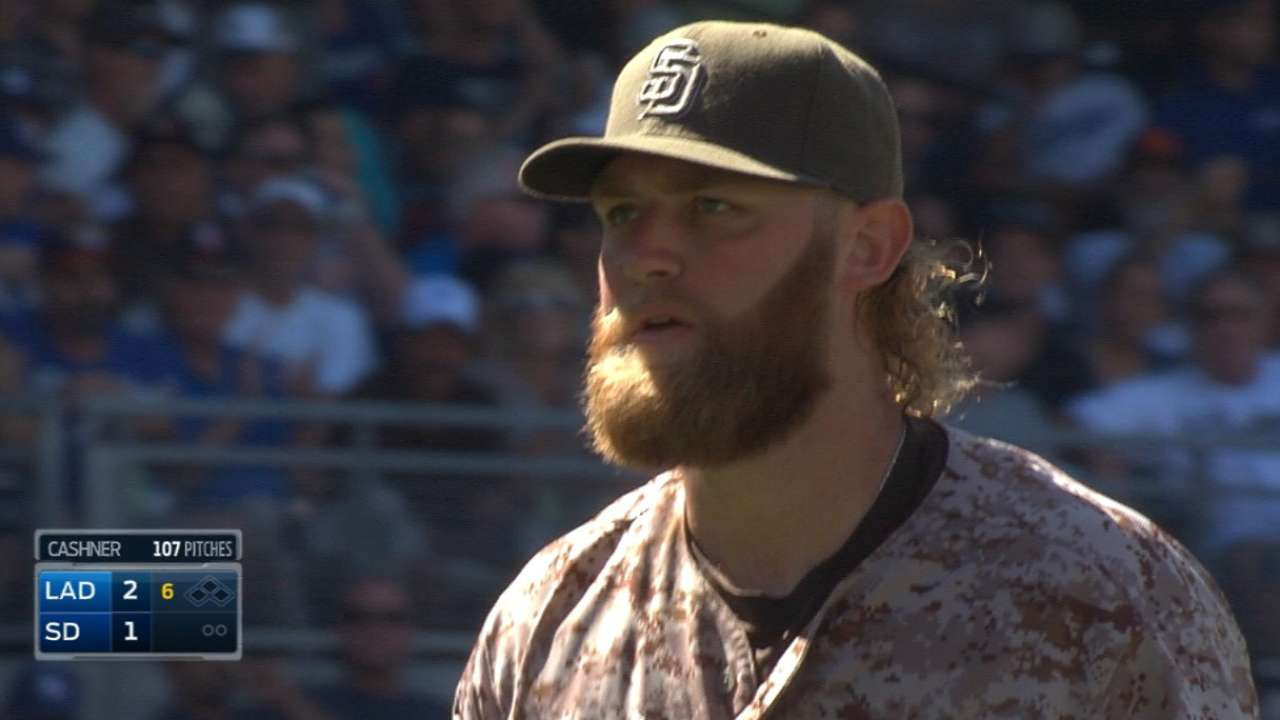Cashner holds Dodgers to two