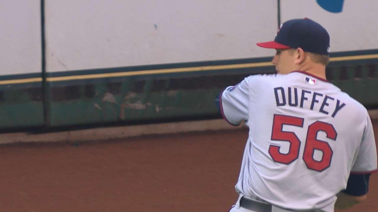Duffey strikes out eight