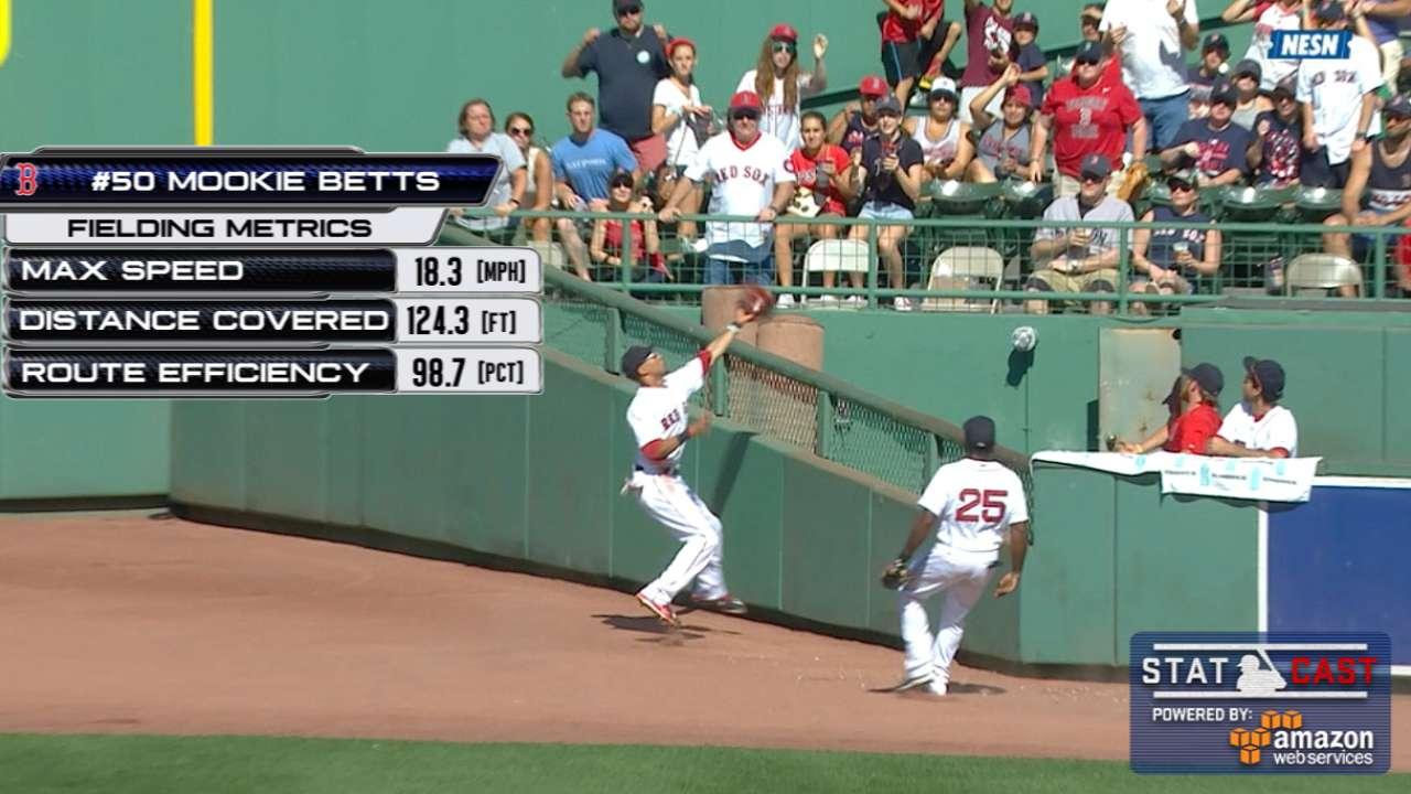 Statcast: Betts' basket catch