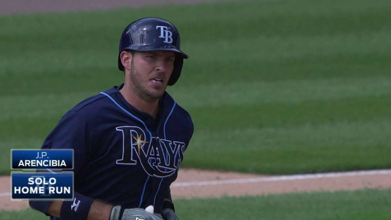Arencibia crushes Rays' longest HR this year