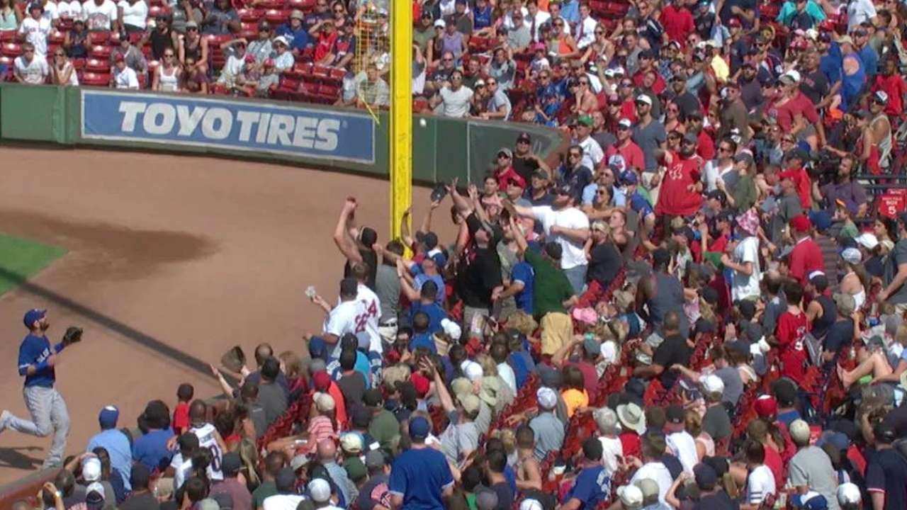 Castillo's foul ball stands