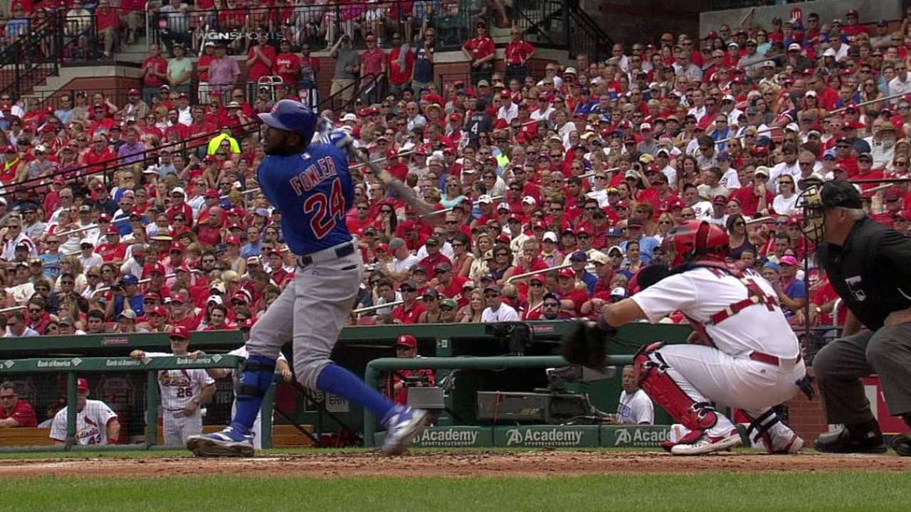 Fowler setting second-half pace for Cubs