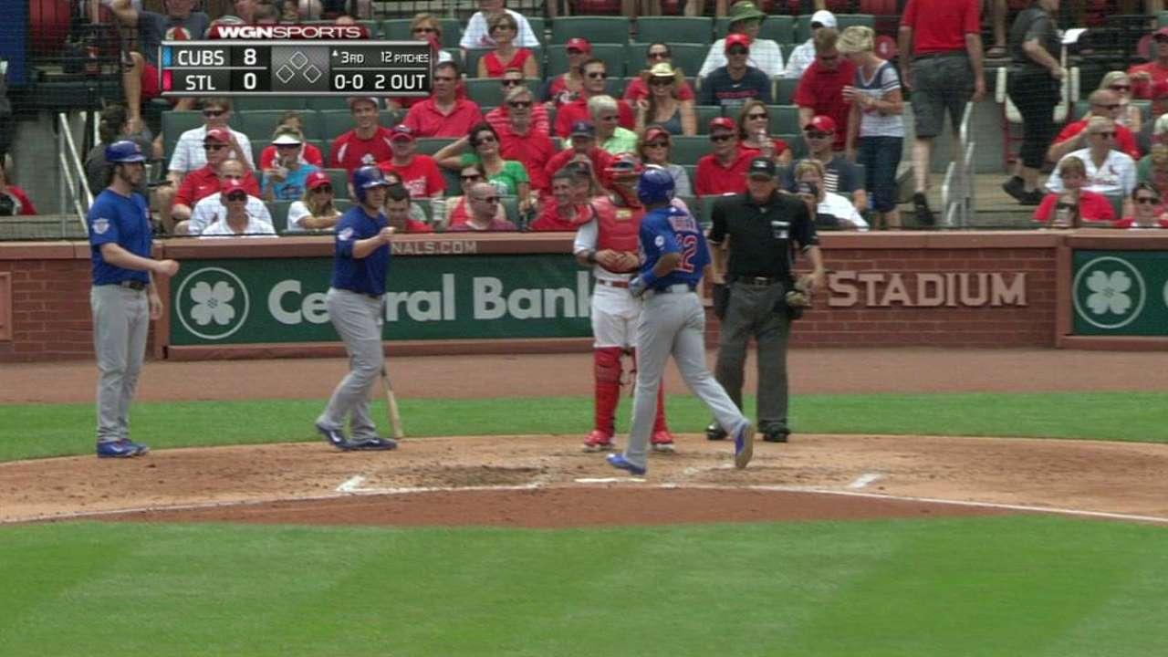 Russell's three-run homer