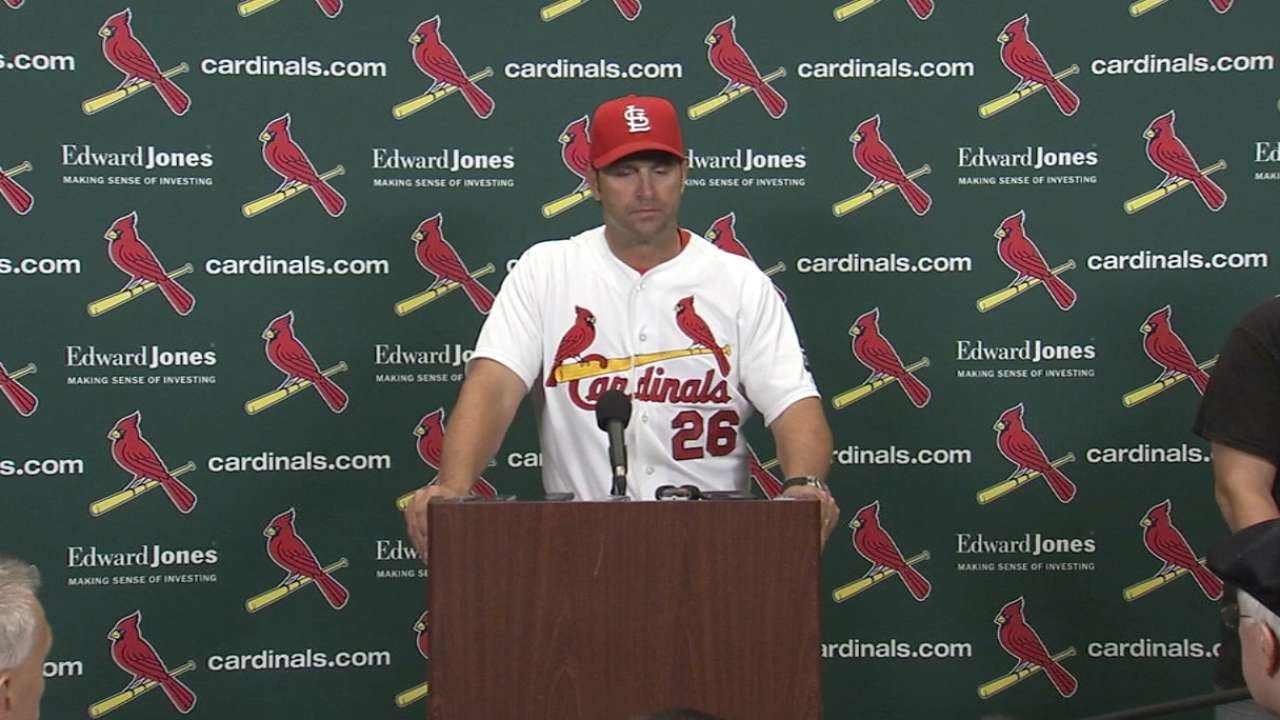 Matheny on loss to Cubs
