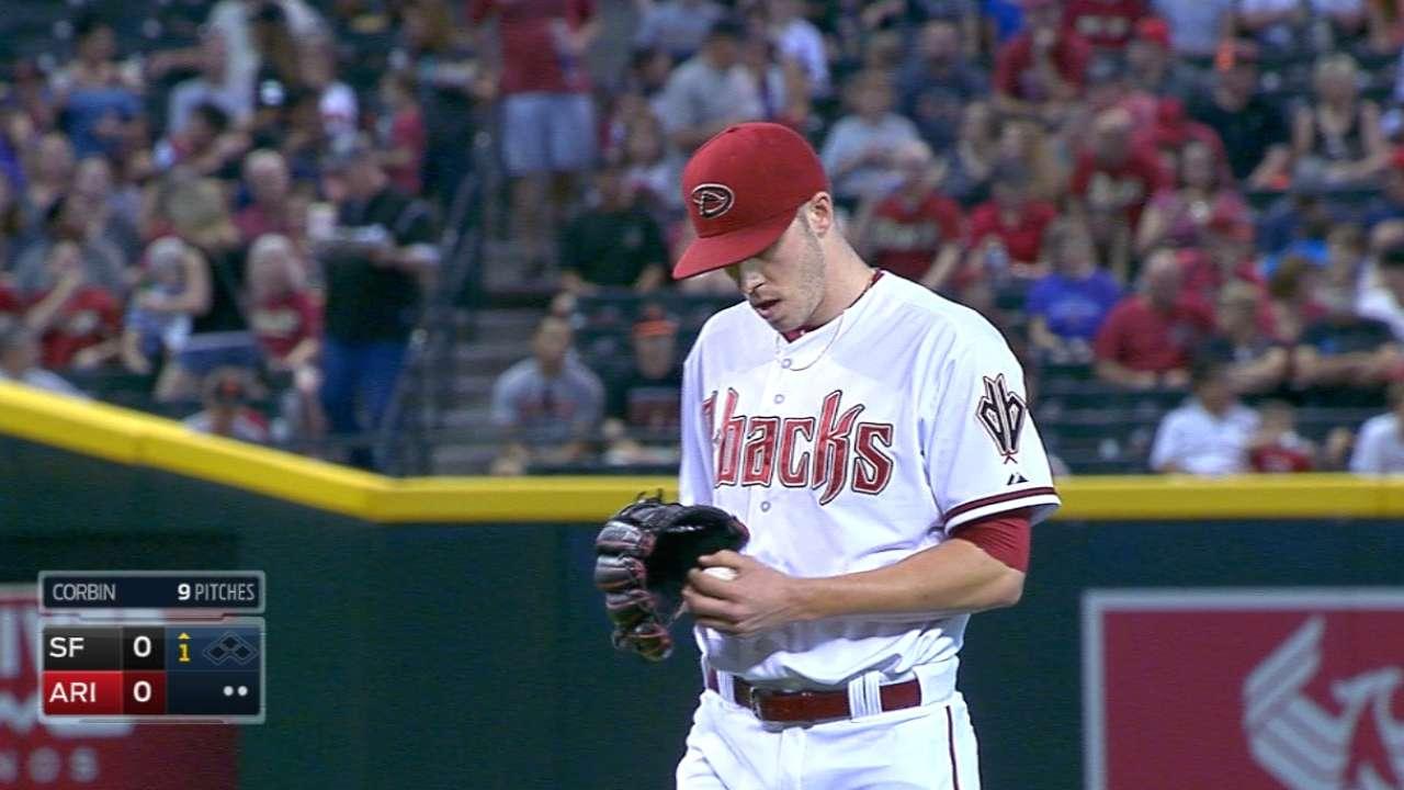 Corbin, D-backs quiet Giants' bats in opener