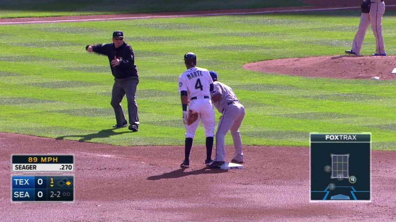 Wilson throws out Marte