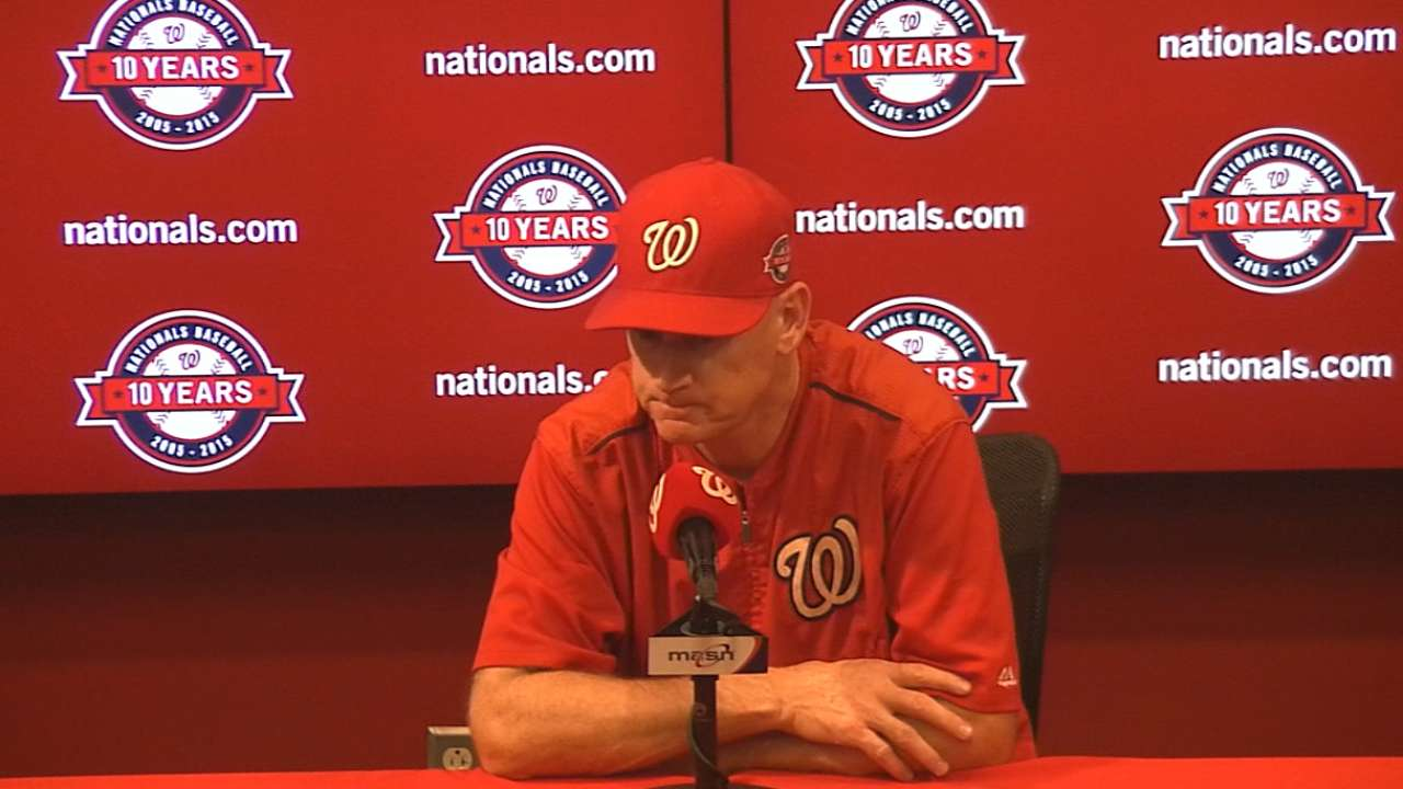 Recent late-inning losses distance Nats from postseason