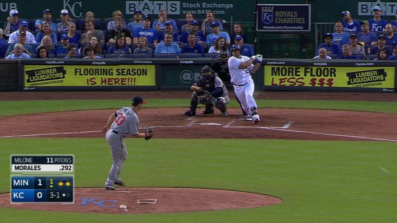 Royals benefiting from Morales' rebound