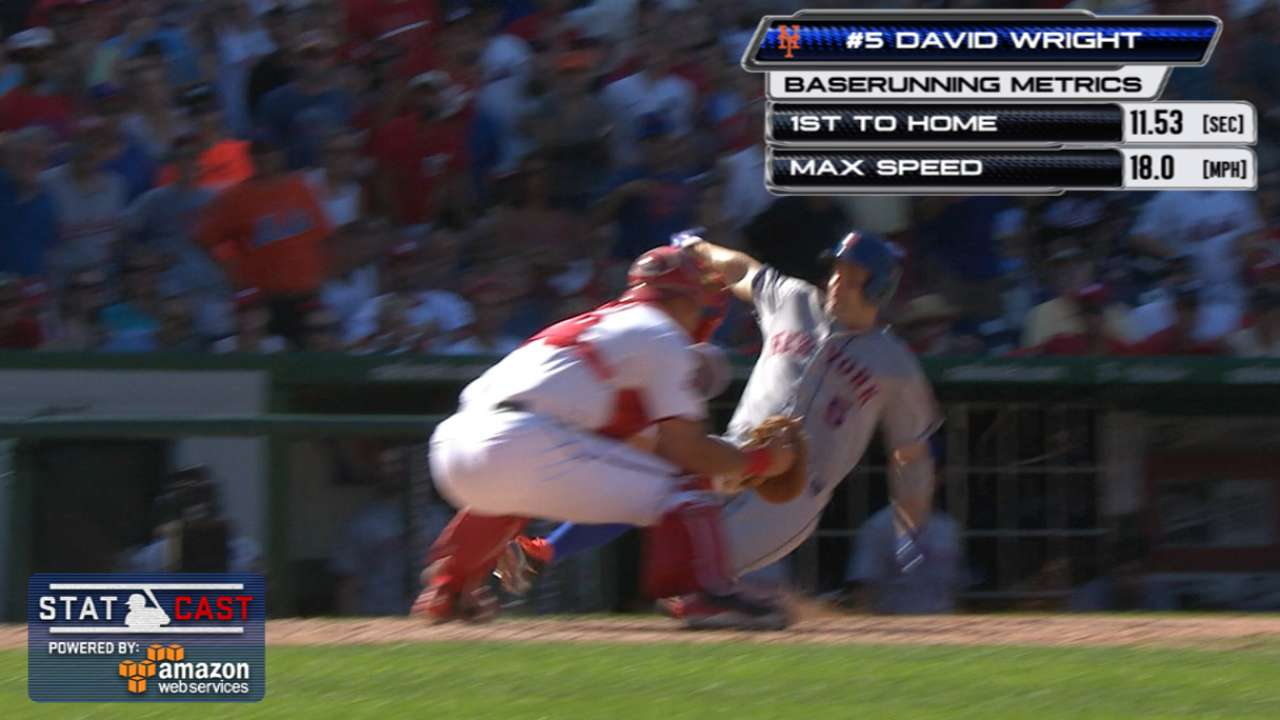 Statcast: Wright races home