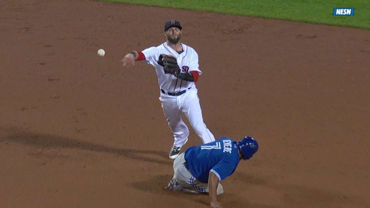 Bogaerts' nice stop turns two