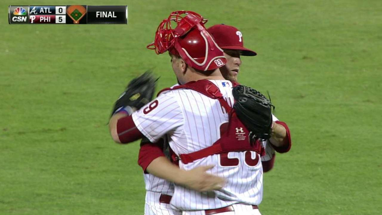 Giles finishes four-out save