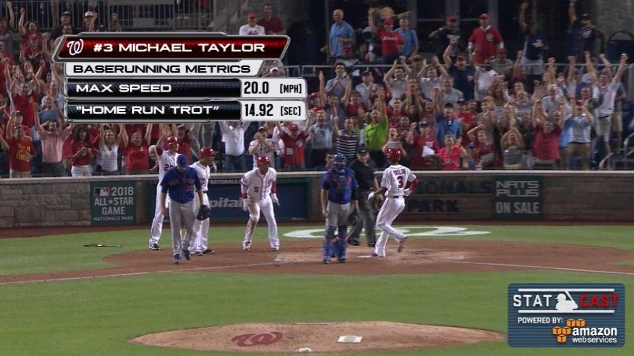 Statcast: Taylor races around