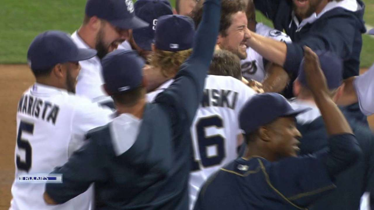 Wallace walks off Padres