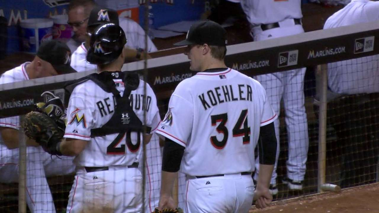 Koehler's 10th strikeout