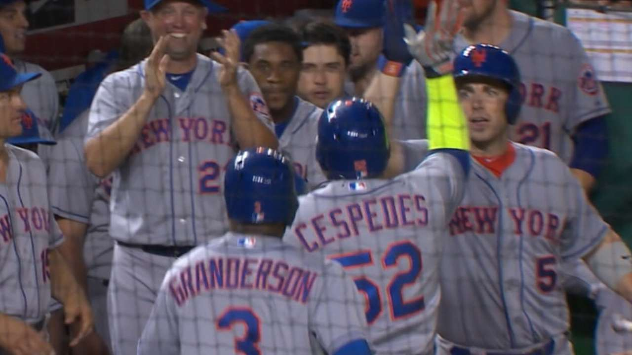 Yoenis Sweptcedes: Mets 7 up after DC dagger