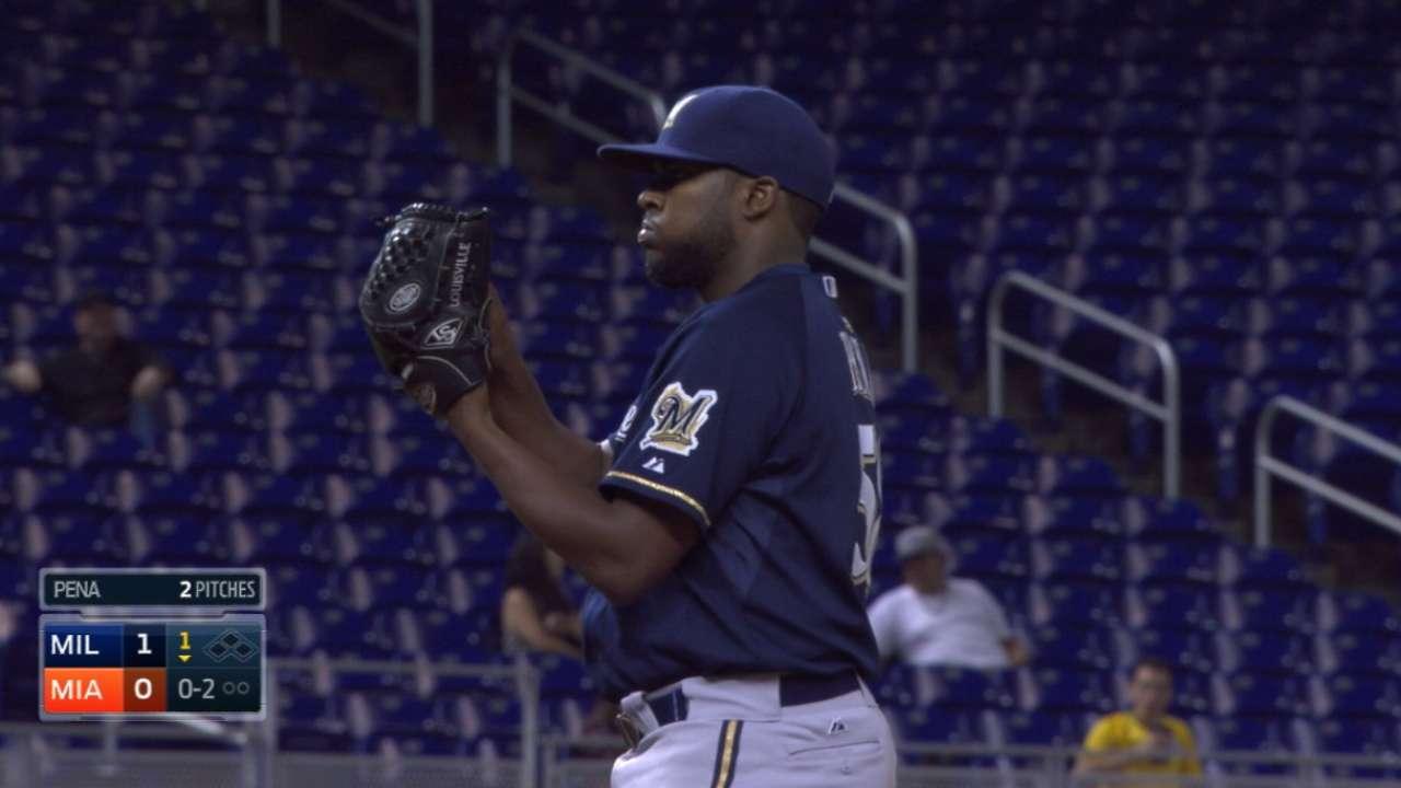 Pena's first MLB start
