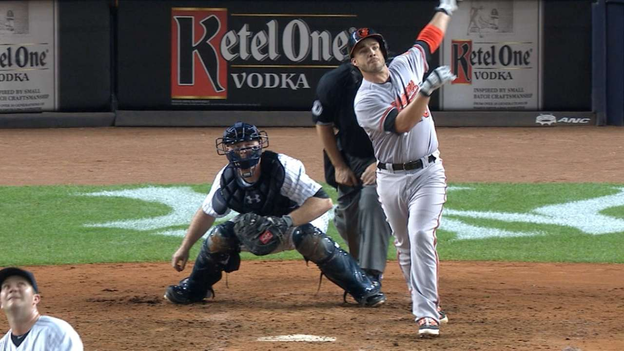 Yanks' division chase stalls with loss to O's