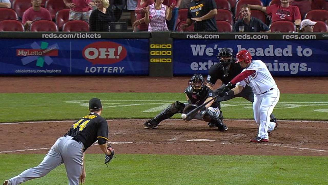 Cabrera's first career hit