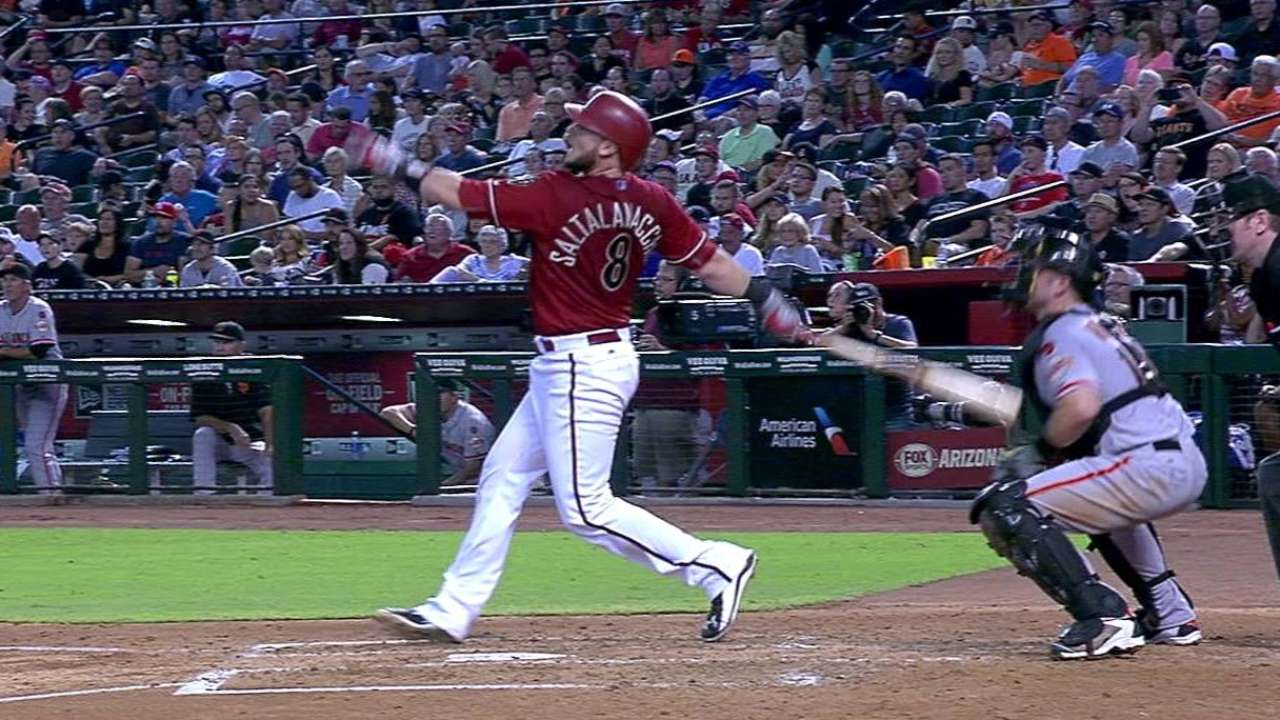 D-backs edge Giants thanks to Salty's blast
