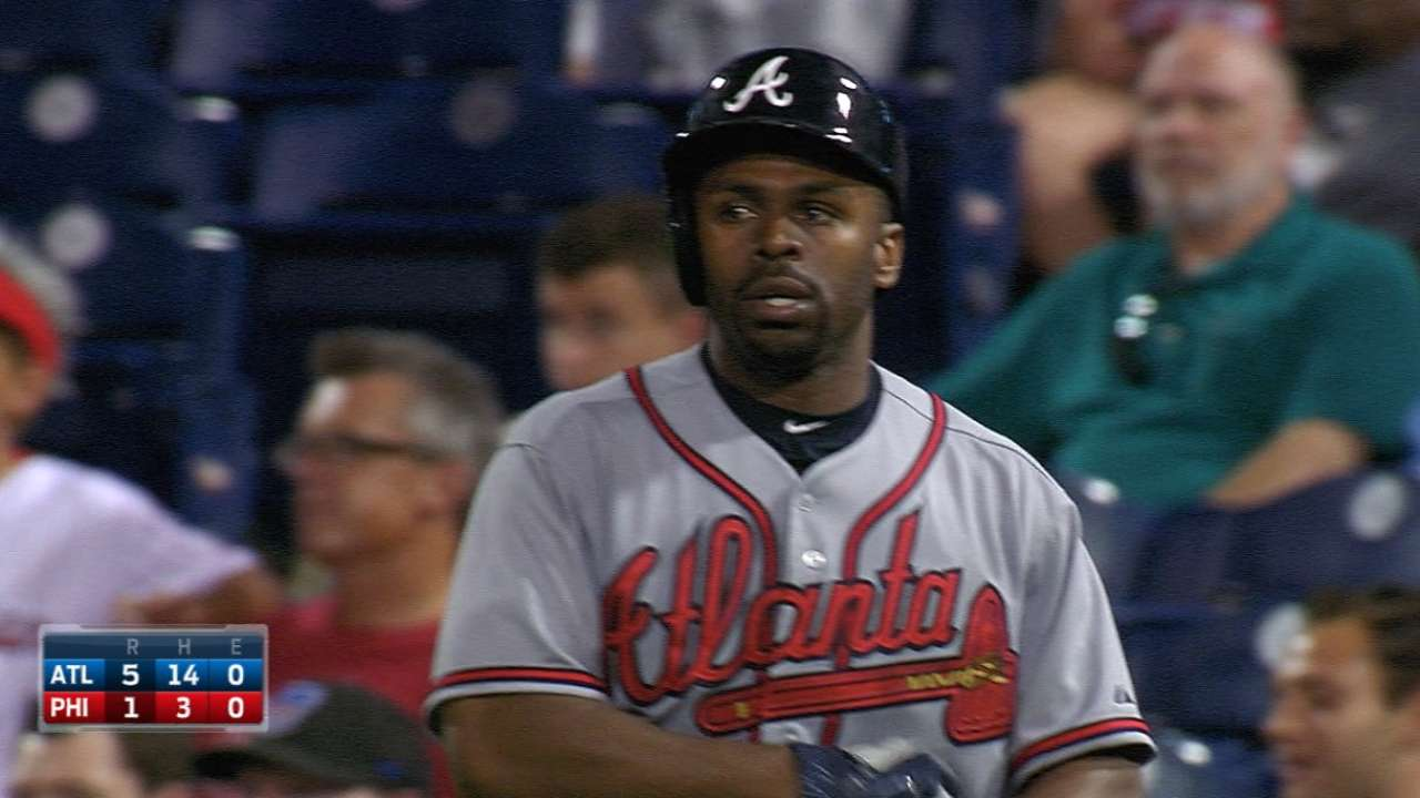 Bourn's four-hit game