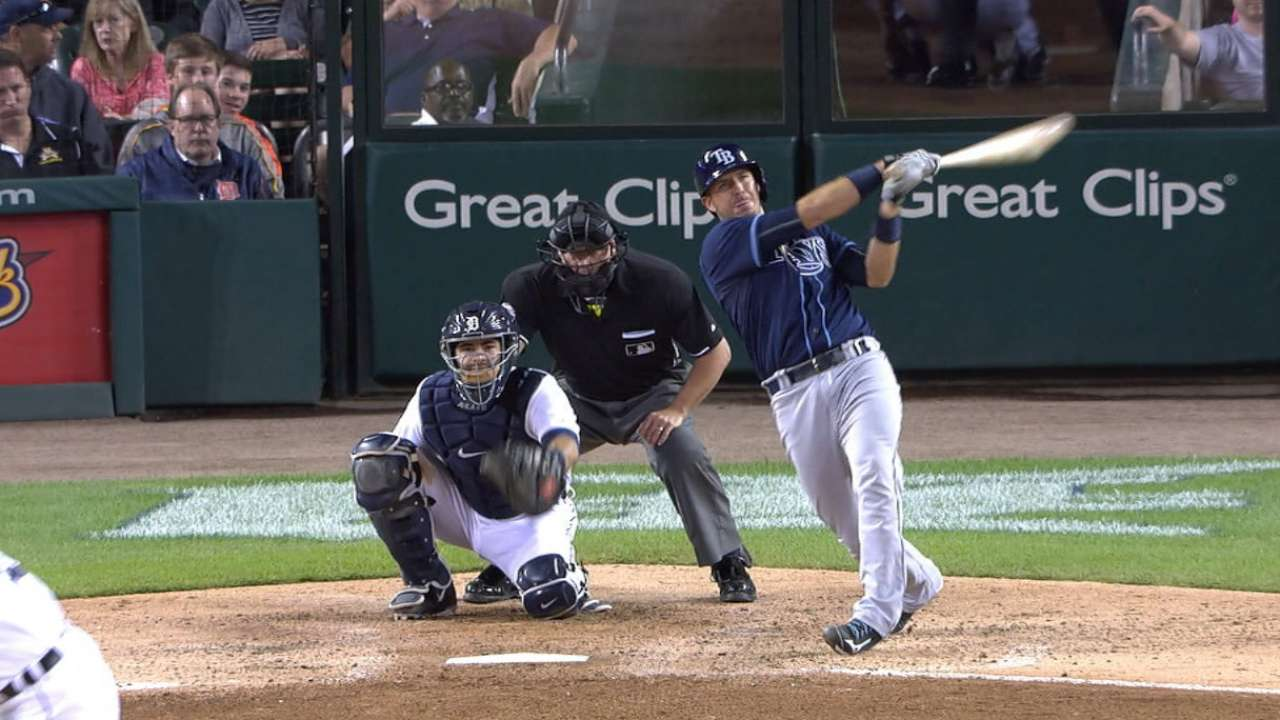 Rays rock Detroit with 4 HRs in shutout win