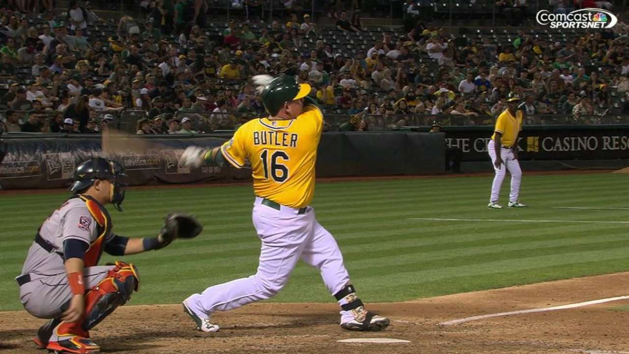 Butler's solo home run