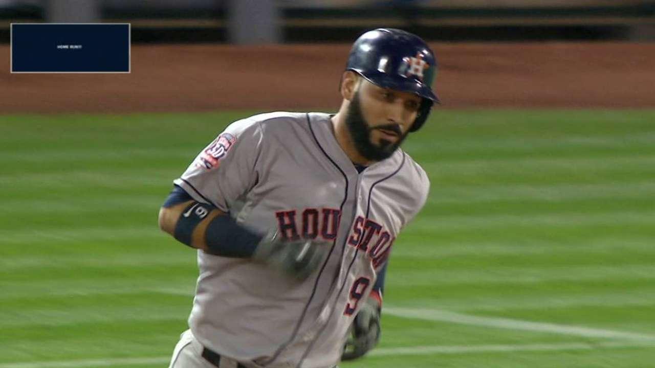 Astros' 11 10-homer players ties league mark