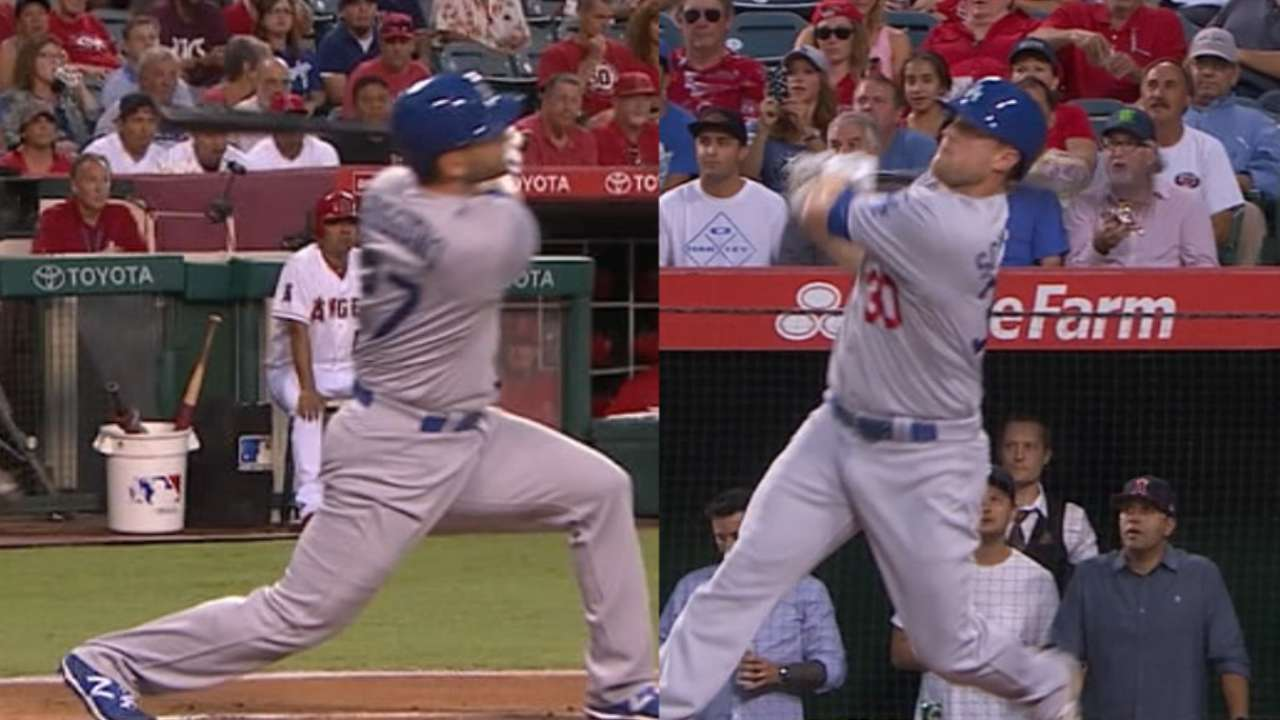 Dodgers hit lead-off homer twice