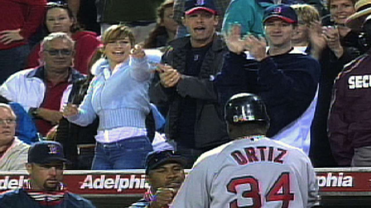 Papi's first Red Sox homer