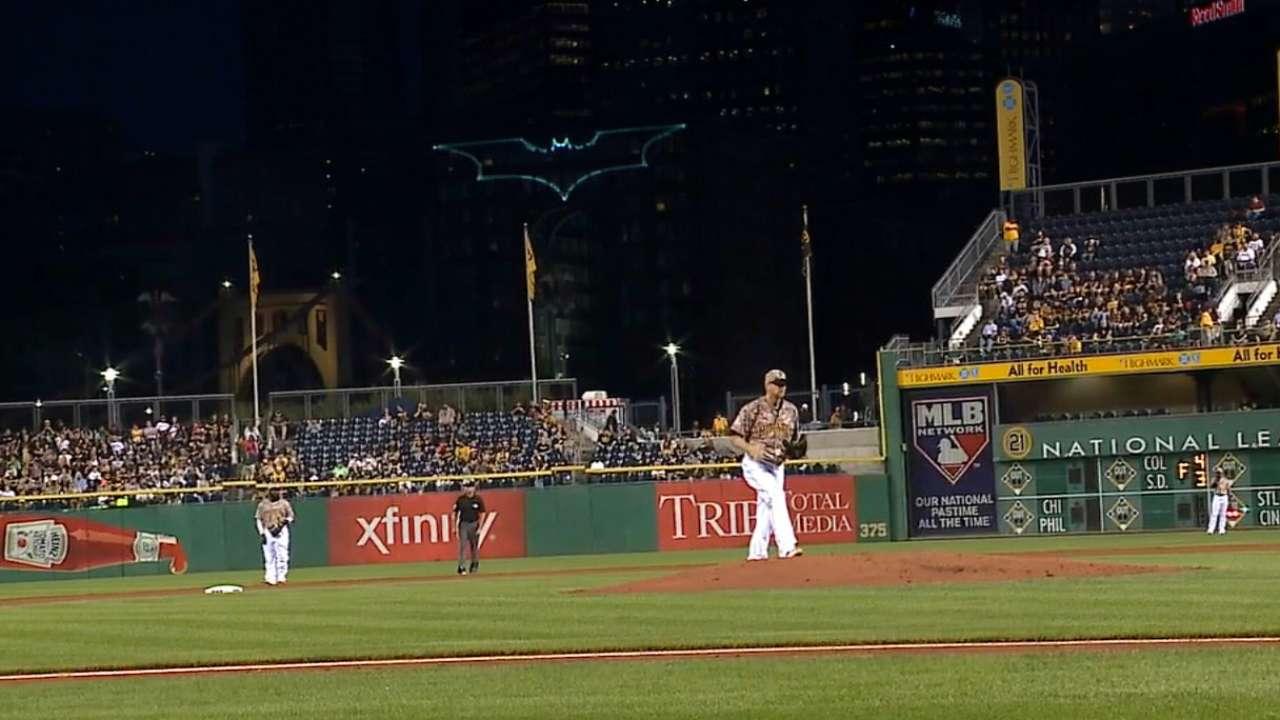 Burnett overwhelmed by city's Bat Signal tribute