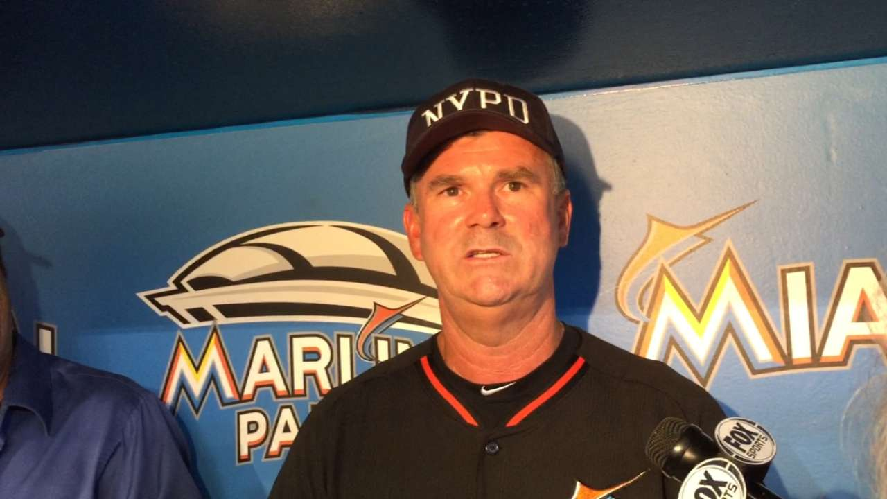Marlins pay tribute to first responders