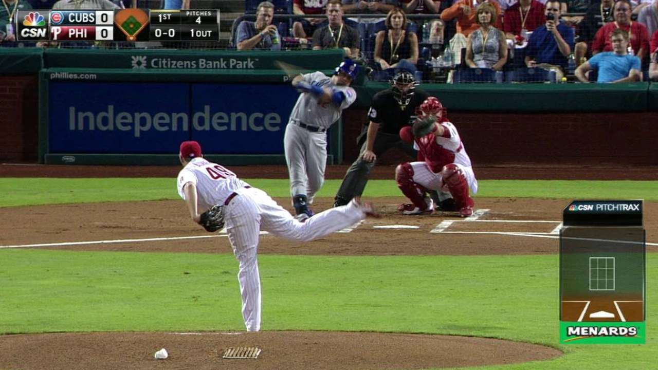 Schwarber's deep solo home run