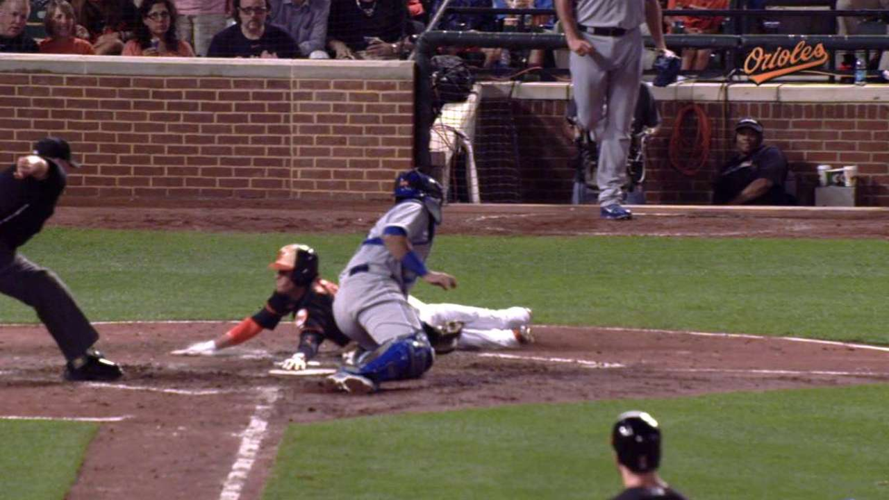Showalter tossed after Davis is hit with pitch