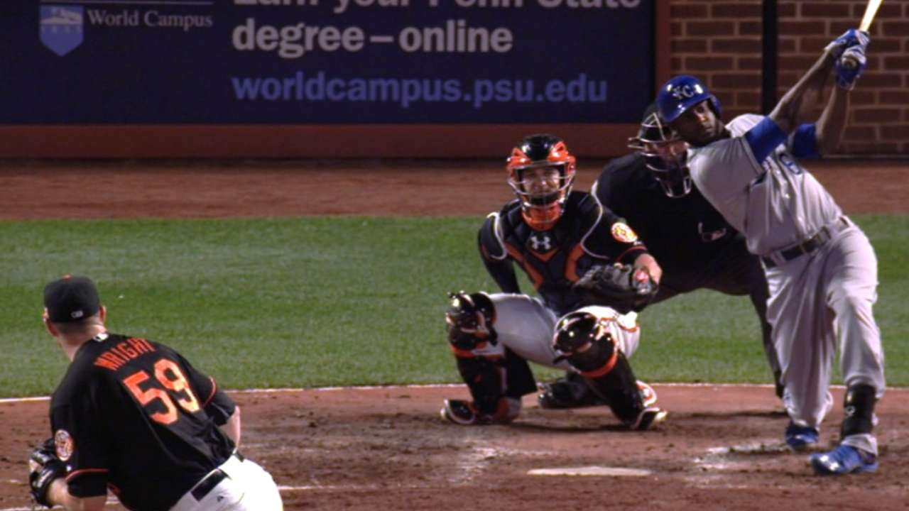 Cain's two home runs