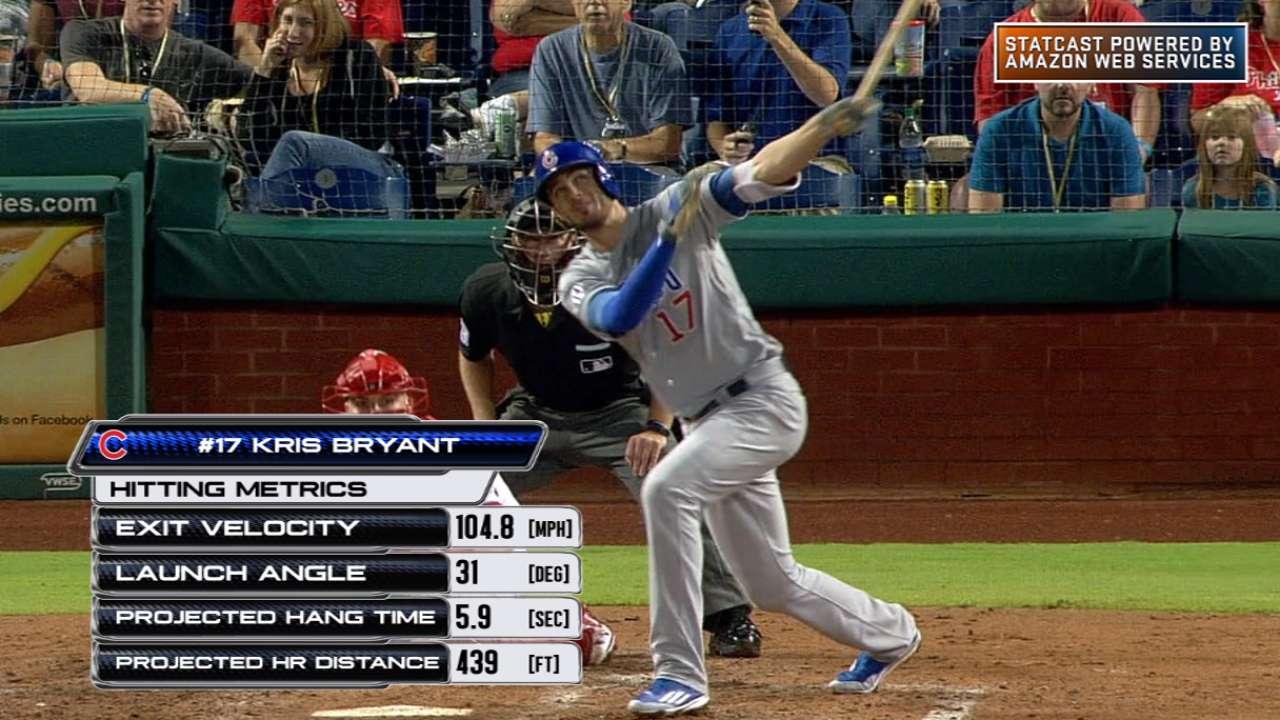 Statcast: Bryant bashes homer