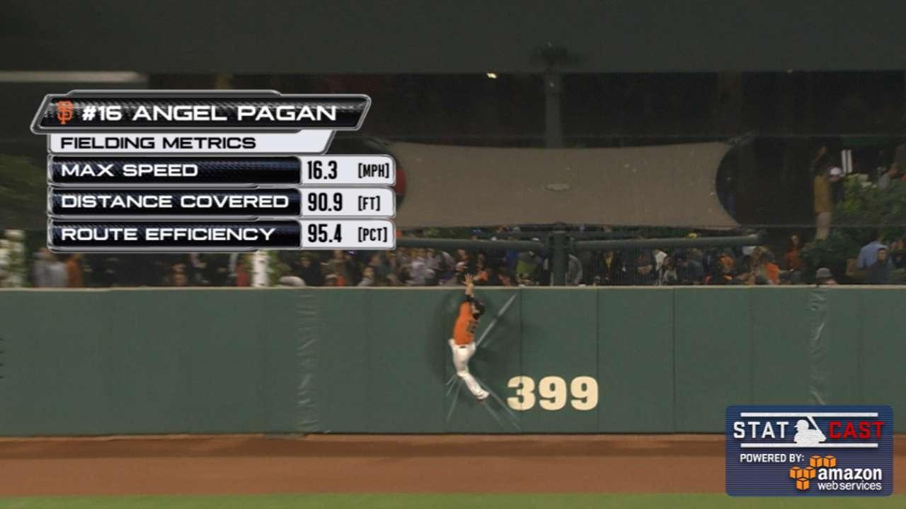 Statcast: Pagan sprints, then steals Kemp HR