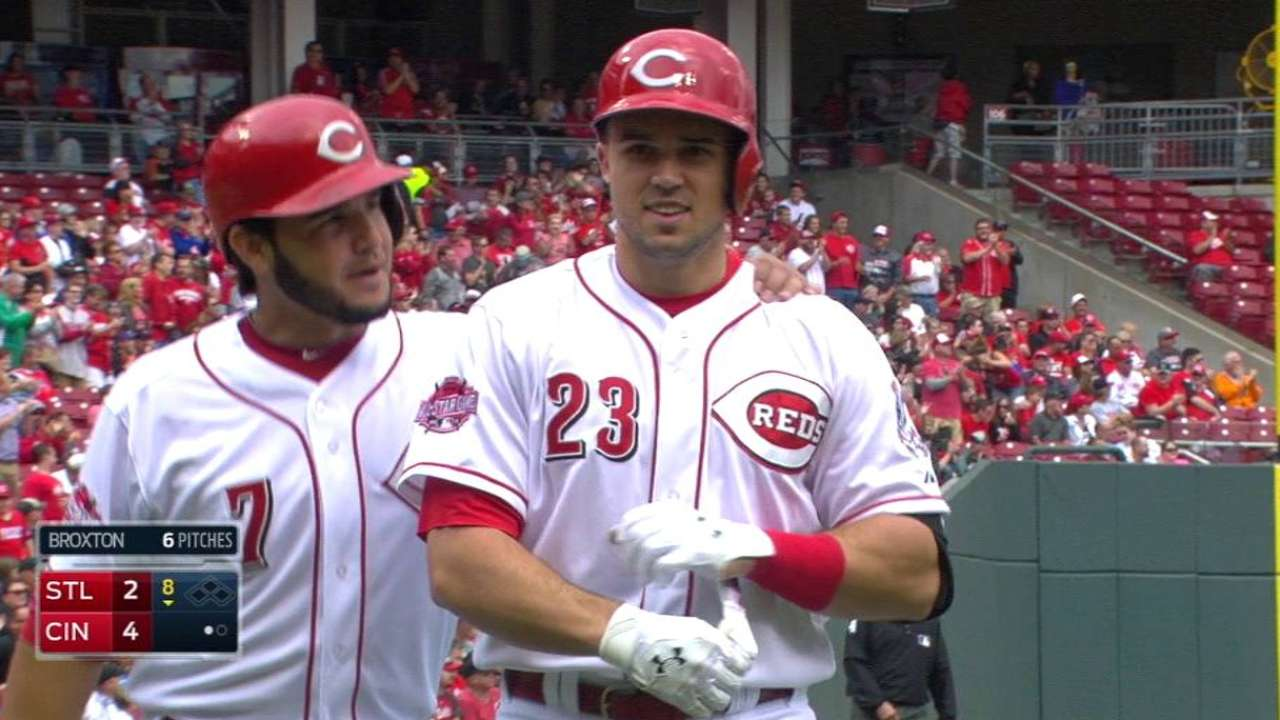 Duvall dinger decides suspended Reds-Cards game