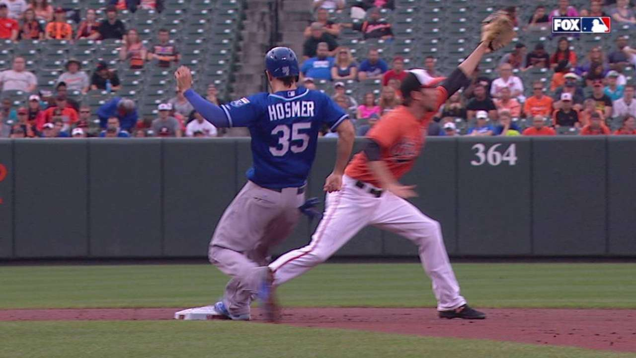 Hosmer gets second on review