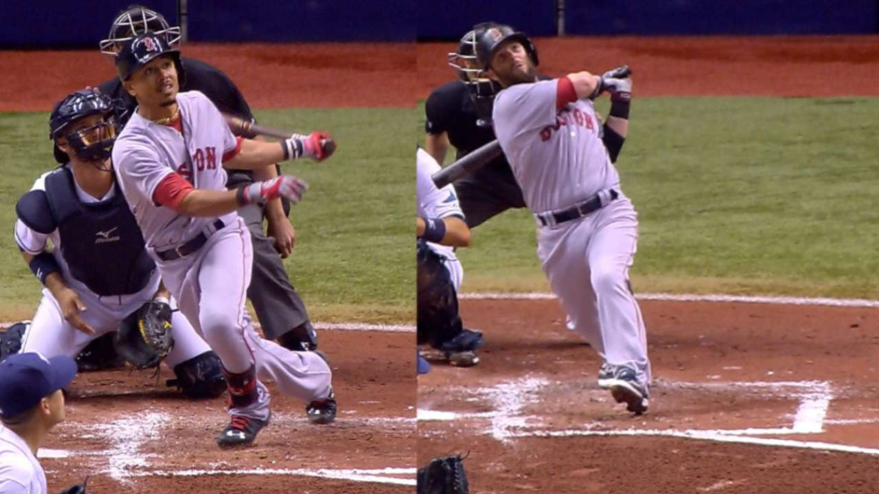 Betts, Pedroia go back-to-back