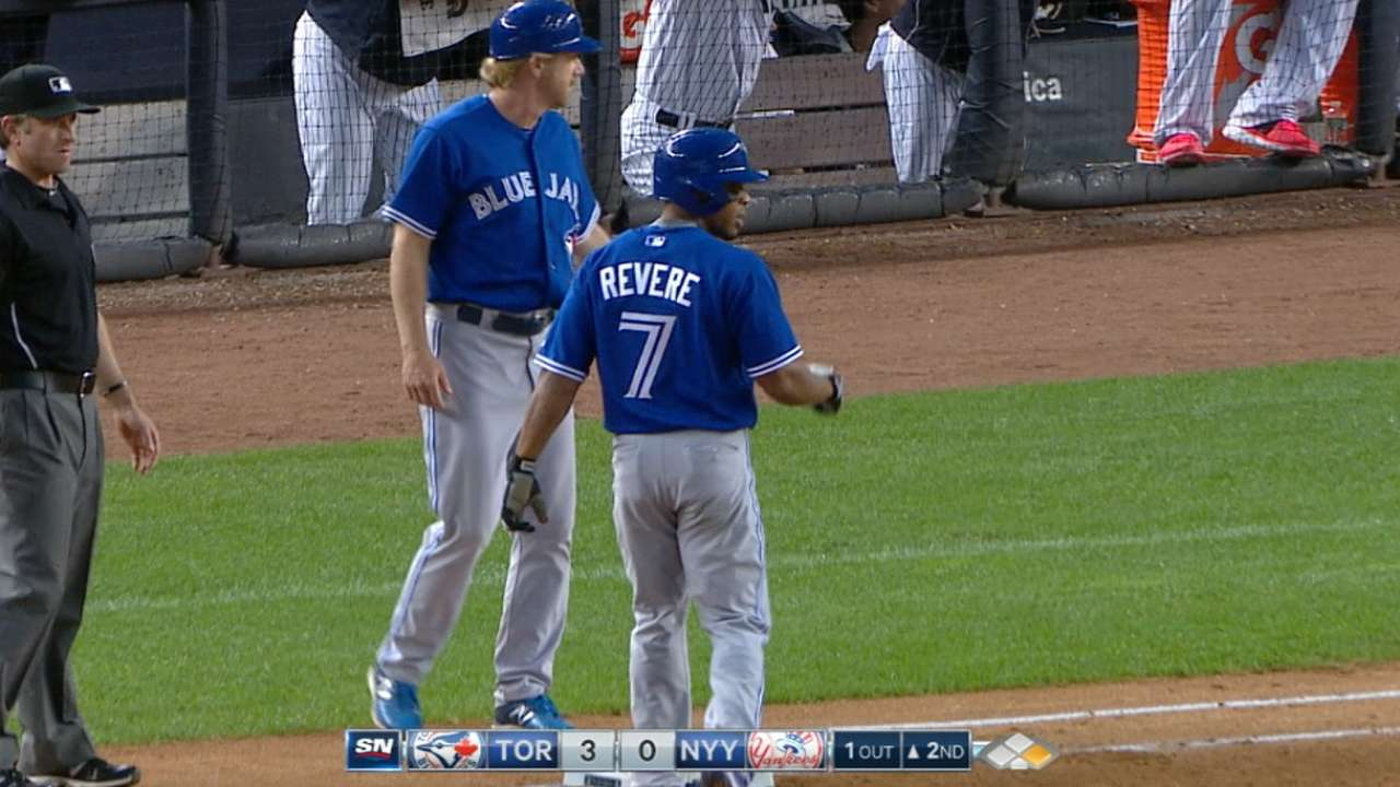 Revere's four-hit game