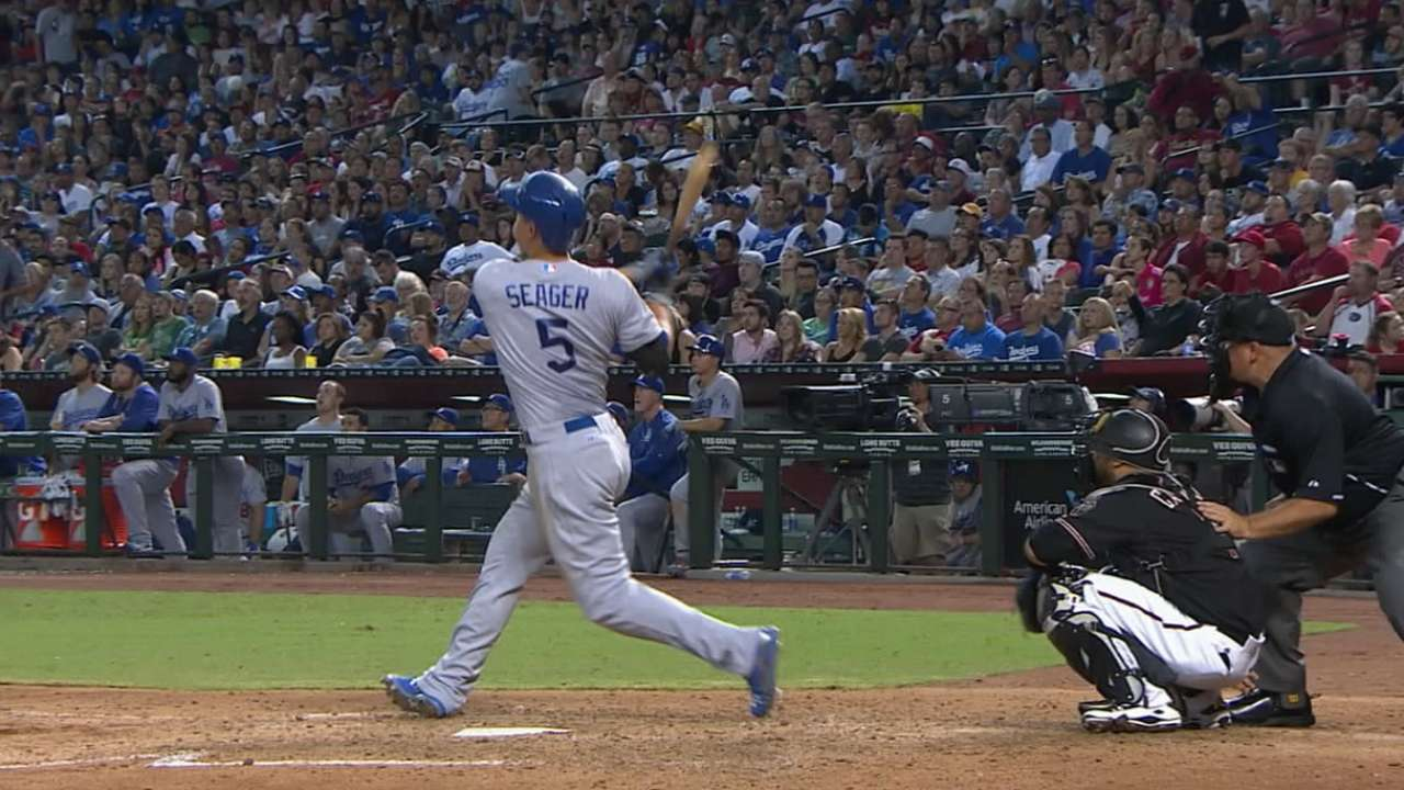 Seager's four-hit night