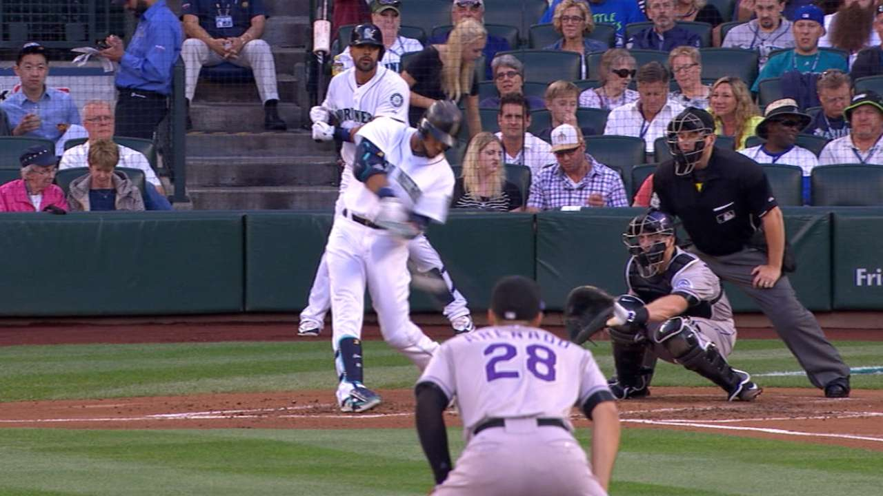 Mariners' four homers