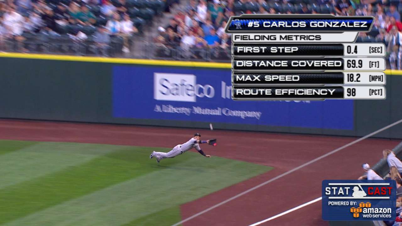 Statcast: CarGo's diving grab